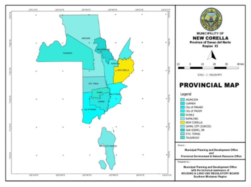 New Corella Provincial Map