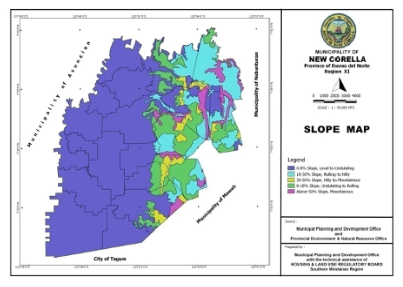 New Corella Slope Map