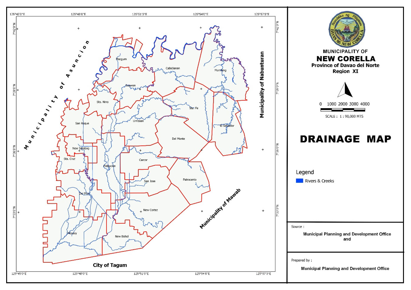 New Corella Drainage Map