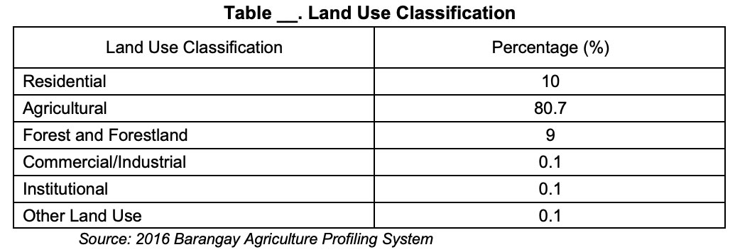 New Corella Land Use Classification